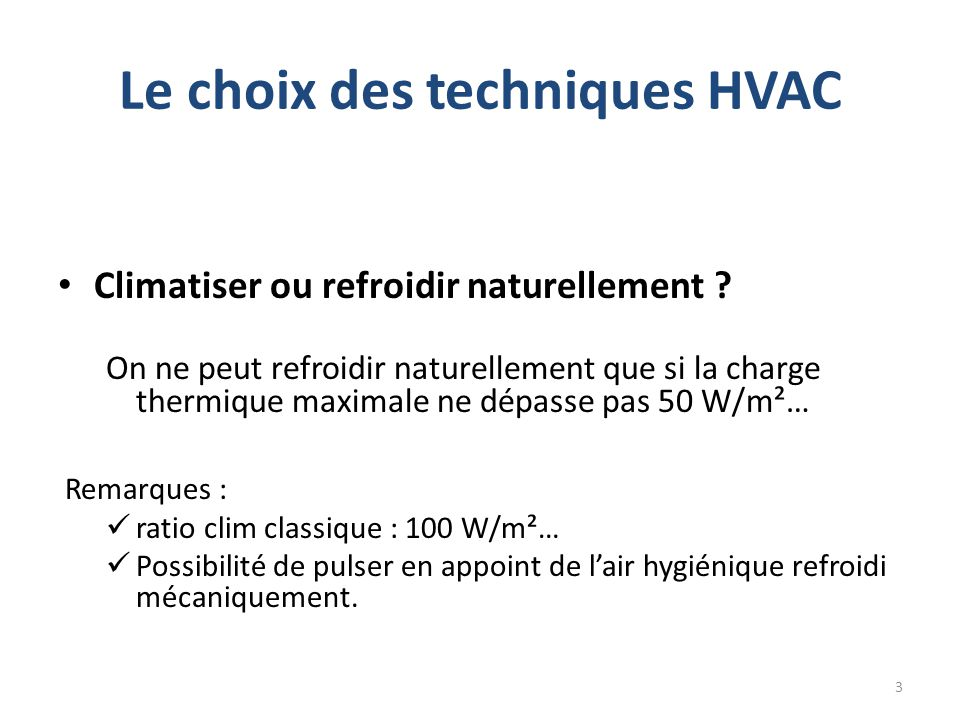 Charge thermique maximale .