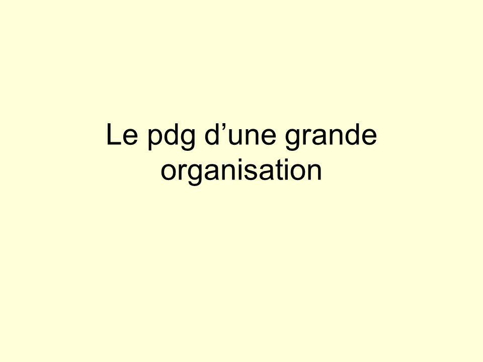 Le pdg dune grande organisation