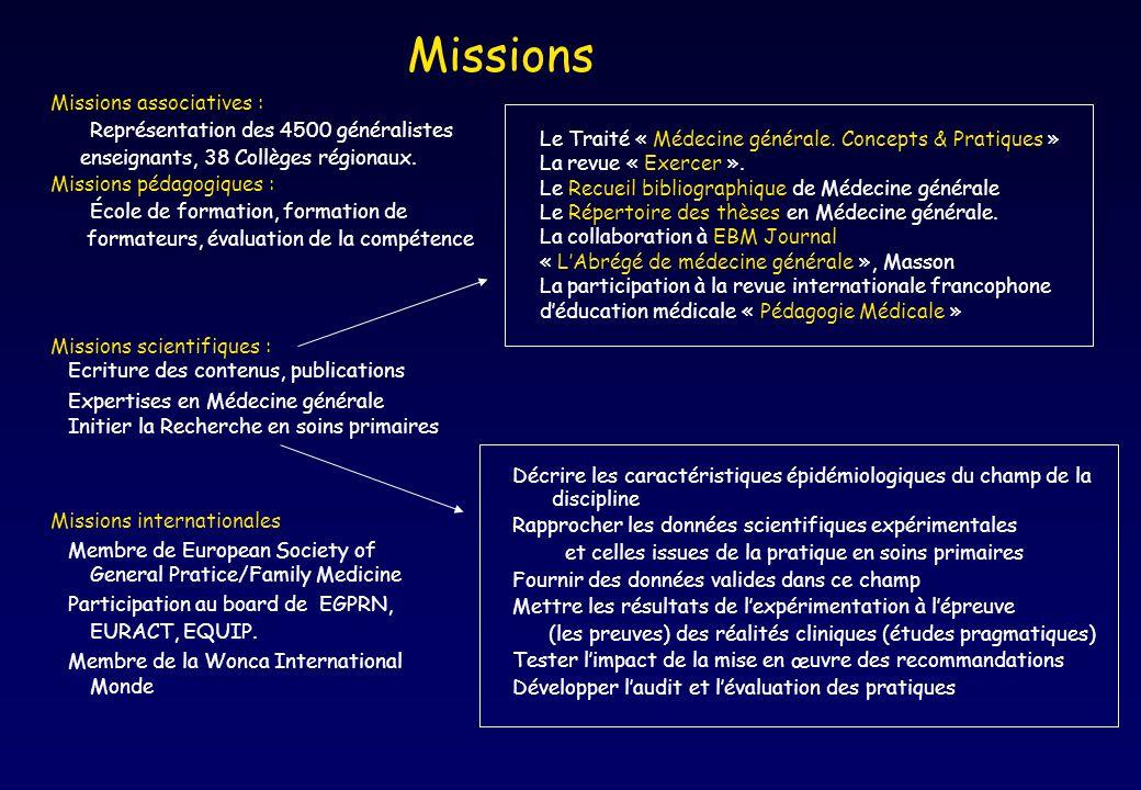 Décrire les caractéristiques épidémiologiques du champ de la discipline Rapprocher les données scientifiques expérimentales et celles issues de la pra