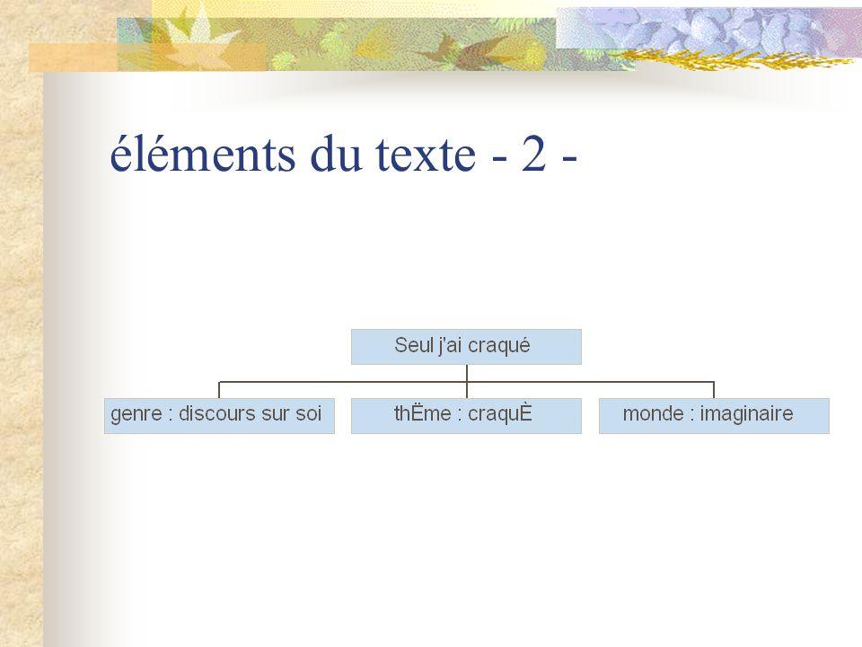 éléments du texte - 3 -