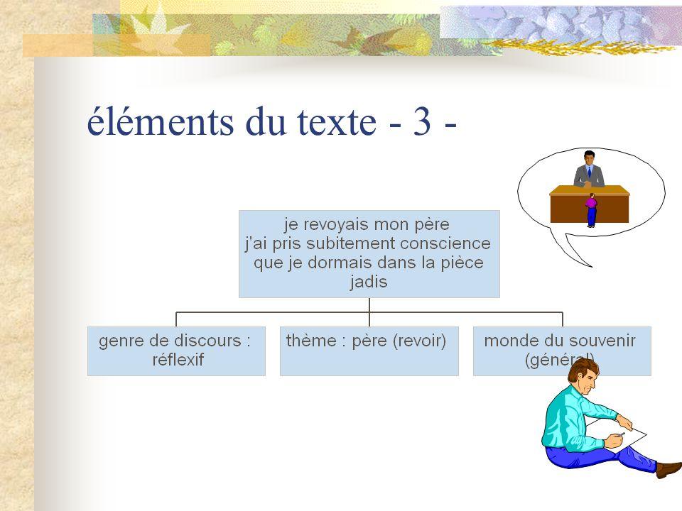 éléments du texte - 4 -