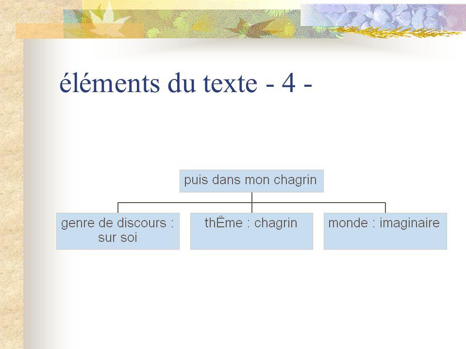 éléments du texte - 5 -