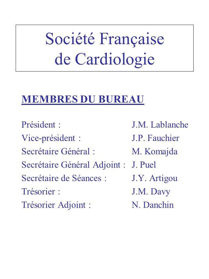 Société Française de Cardiologie MEMBRES DU BUREAU Président : J.M.