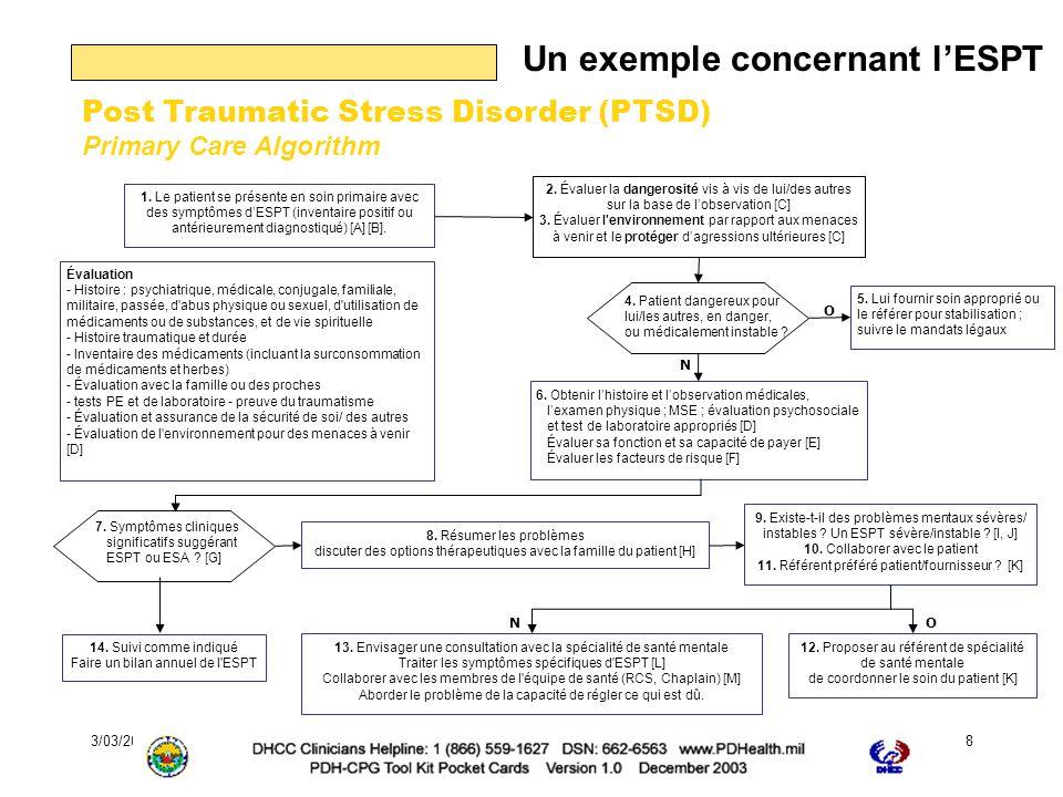3/03/2006Journée EPP de la Fédération Française de Psychiatrie8 Un exemple concernant lESPT 1.