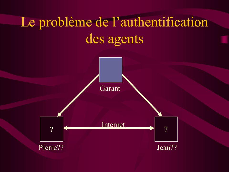 Le problème de lauthentification des agents ?? Pierre??Jean?? Internet Garant