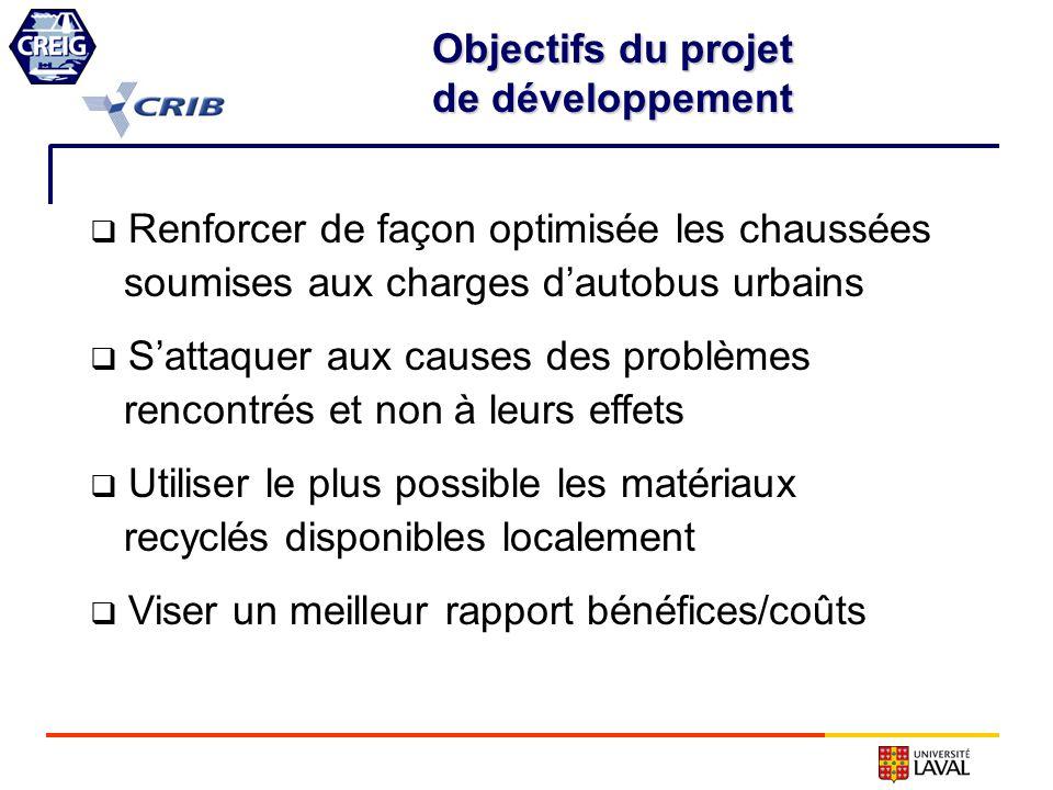Renforcer de façon optimisée les chaussées soumises aux charges dautobus urbains Sattaquer aux causes des problèmes rencontrés et non à leurs effets U