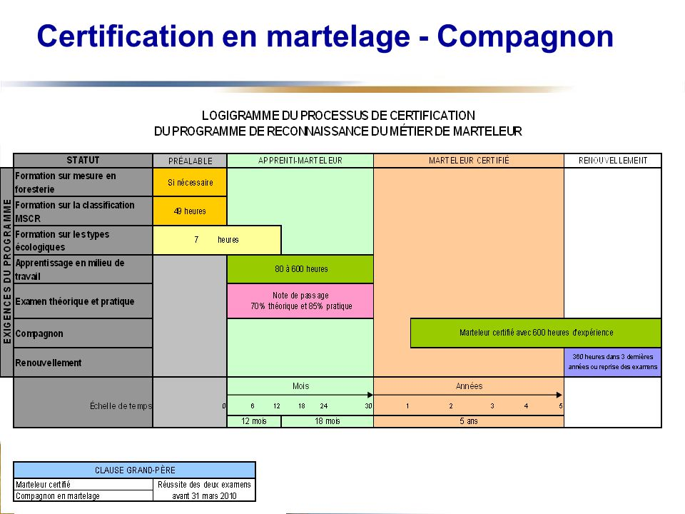 14 Certification en martelage - Compagnon