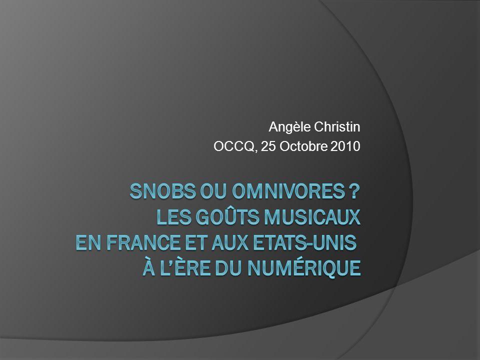 Angèle Christin OCCQ, 25 Octobre 2010