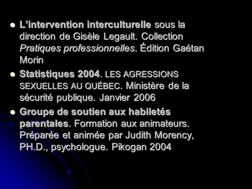 Lintervention interculturelle sous la direction de Gisèle Legault. Collection Pratiques professionnelles. Édition Gaétan Morin Lintervention intercult