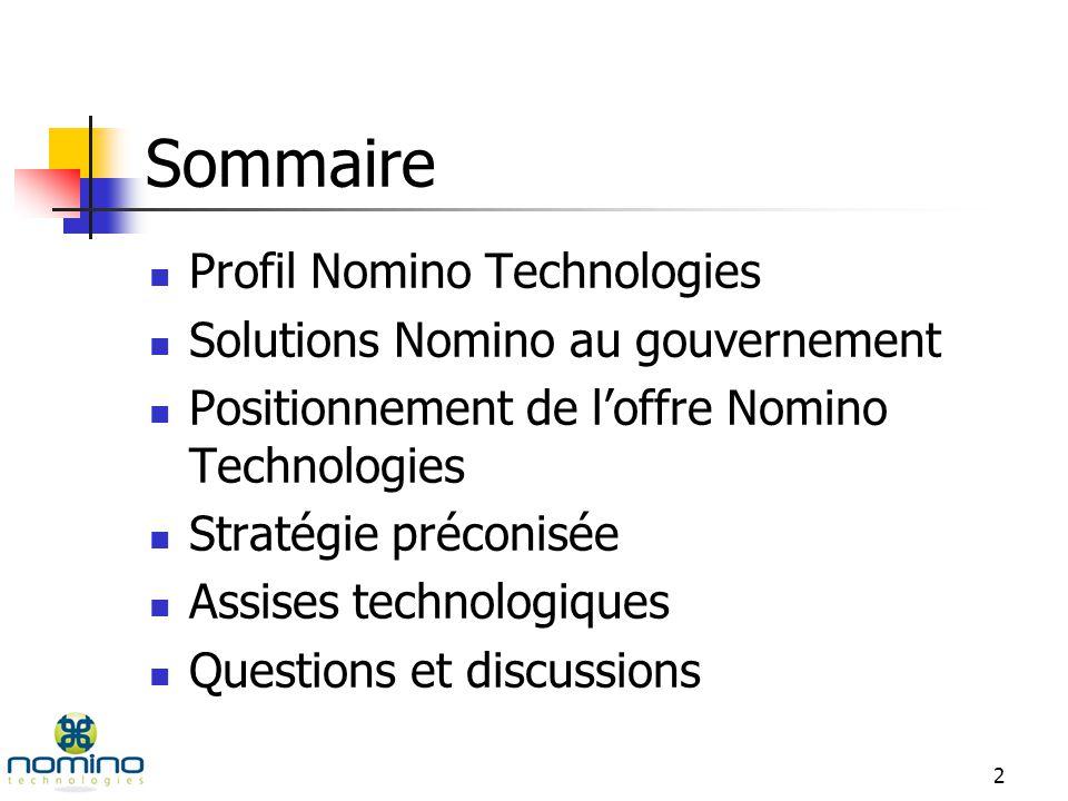 Gouvernement du Québec Présentation par : Alain Thibault : PDG Efoé Wallace : Directeur du développement