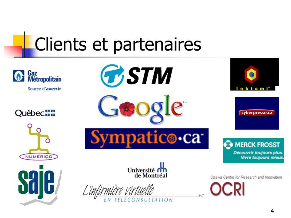 3 Profil Nomino Technologies Fondée en 2000 Plus de 10 ans de R-D Technologie brevetée Compétences distinctives Technologie NLP 4 applications dans le eSelf-Service Revendeur Google et Inktomi Équipe R-D haut calibre (3 PHD, 4 MSC) Partenaires financiers T2C2/Info, Innovatech du Grand Montréal, Fondaction & Investisseurs privés