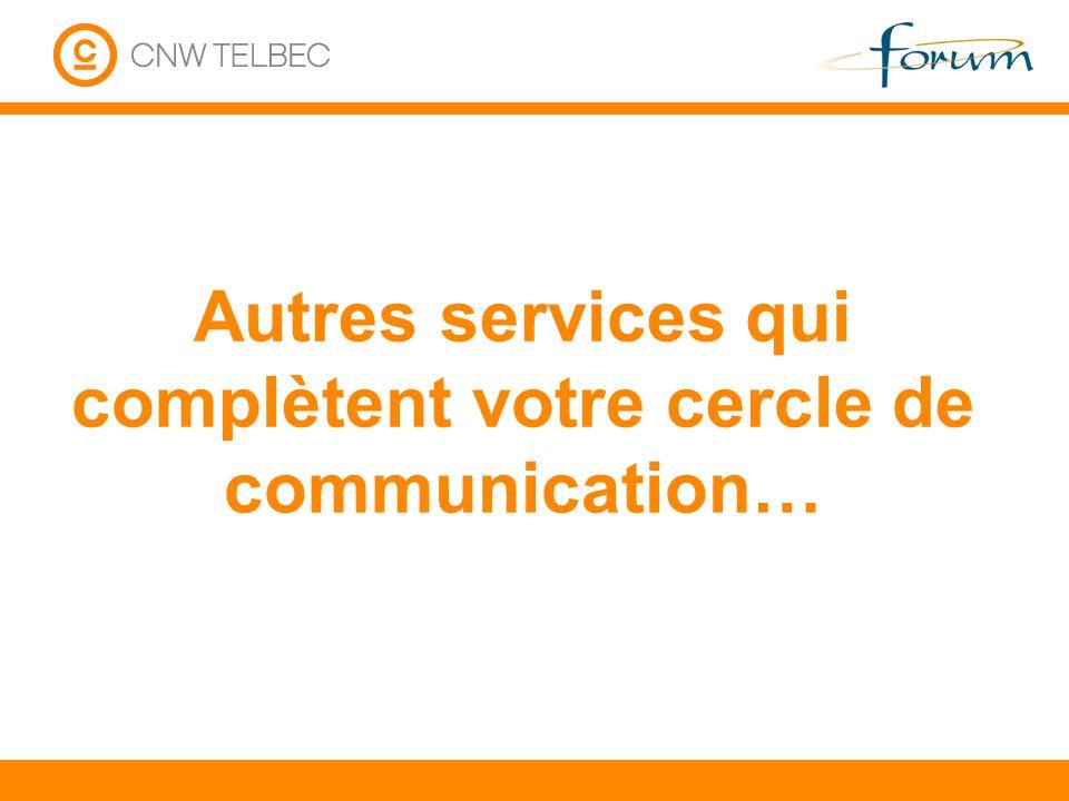 Autres services qui complètent votre cercle de communication…