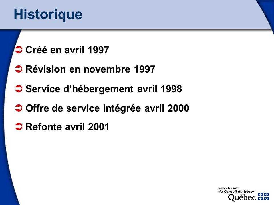 4 Historique Créé en avril 1997 Révision en novembre 1997 Service dhébergement avril 1998 Offre de service intégrée avril 2000 Refonte avril 2001