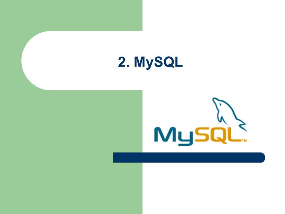 2. MySQL