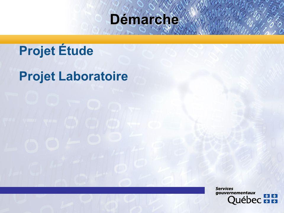 Démarche Projet Étude Projet Laboratoire