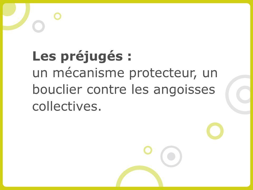 Les préjugés : un mécanisme protecteur, un bouclier contre les angoisses collectives.