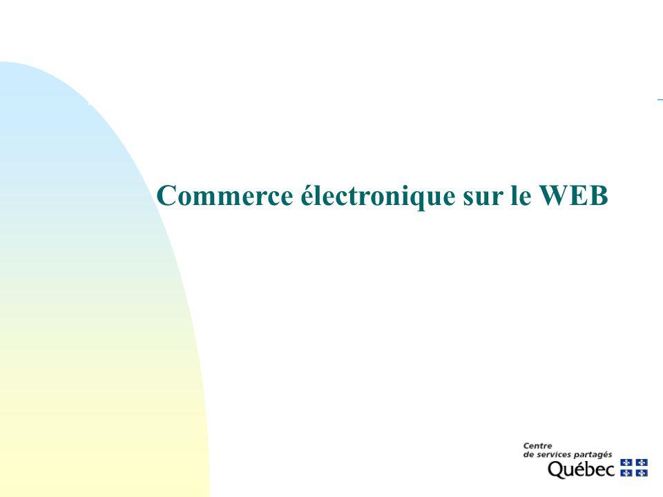 Commerce électronique sur le WEB