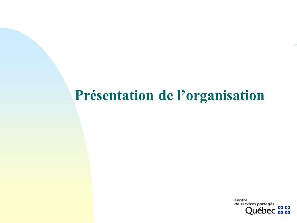 Présentation de lorganisation