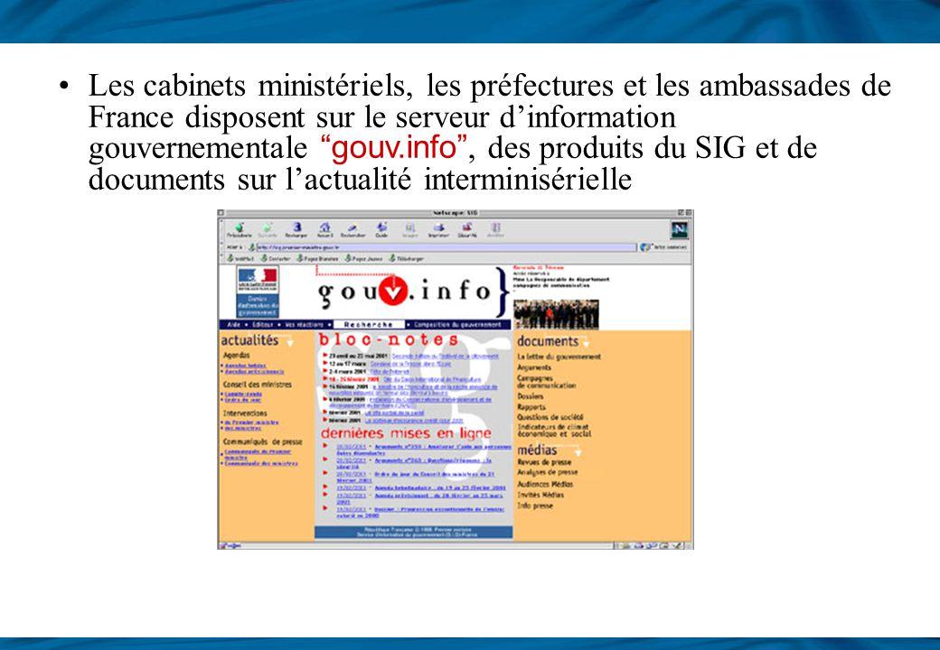 Les sites internet Le site du Premier ministre, portail du Gouvernement français, www.premier-ministre.gouv.fr 4