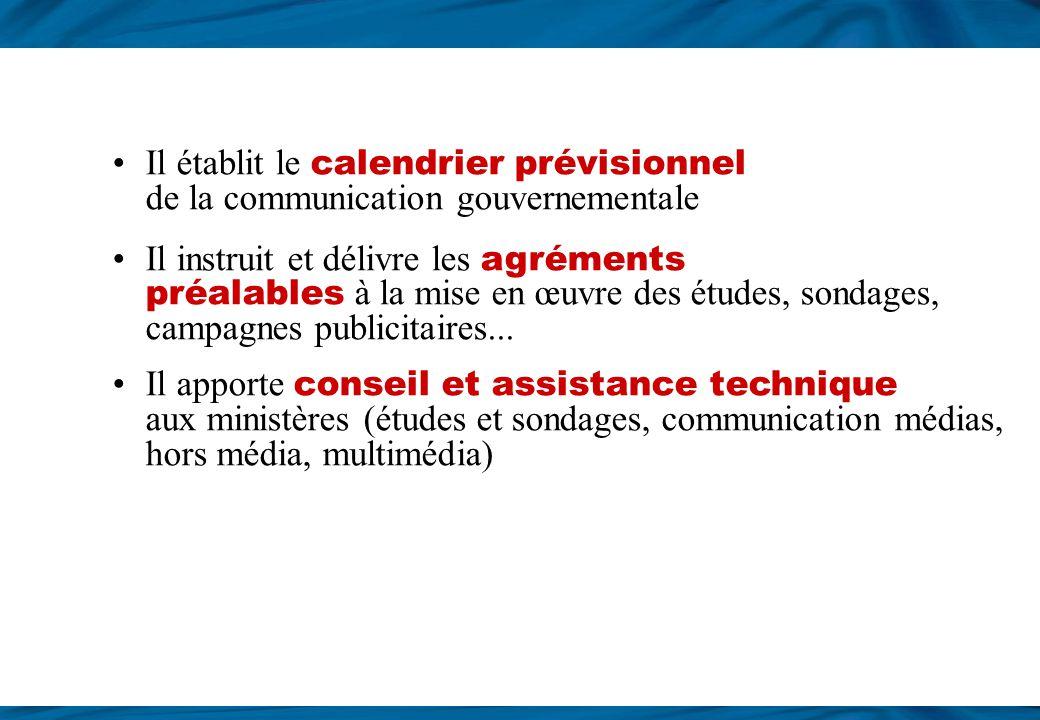 Coordonner la communication gouvernementale Le SIG coordonne la mise en œuvre d es actions de communication gouvernementale 3