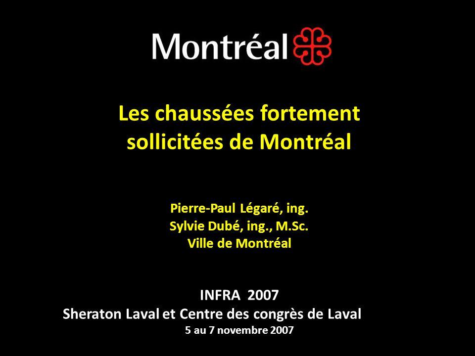 Réseau routier de Montréal: 1000 km artériel (en bleu) 4200 km local