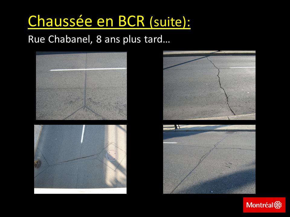 Chaussée en BCR (suite): Rue Chabanel, 8 ans plus tard…