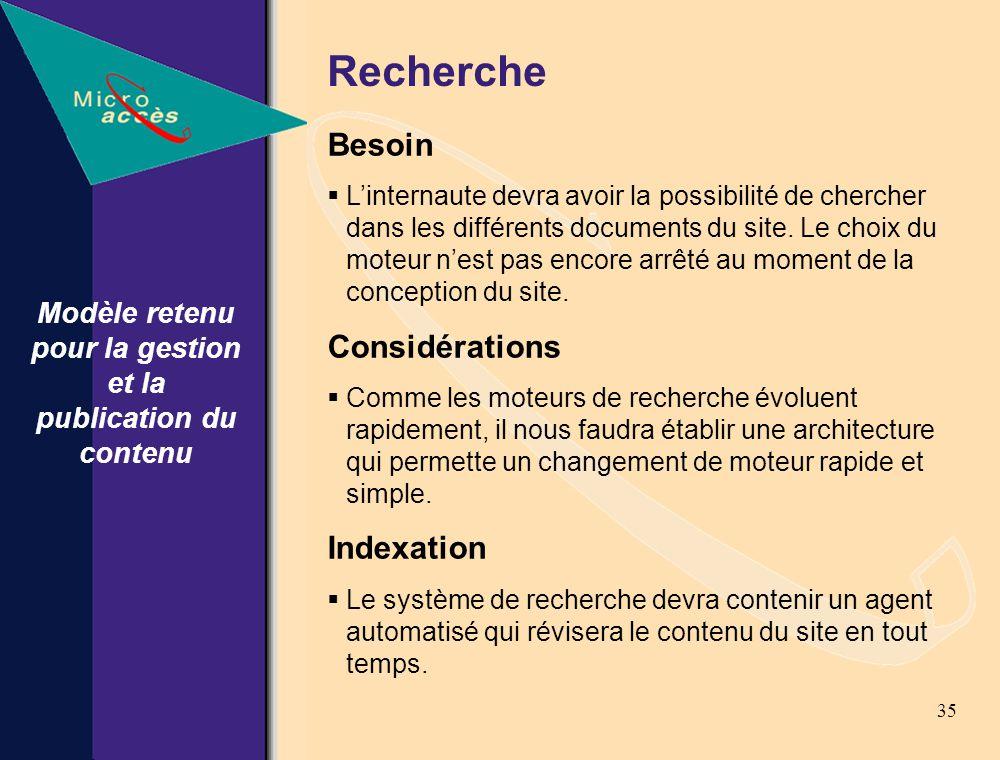 35 Recherche Besoin Linternaute devra avoir la possibilité de chercher dans les différents documents du site.