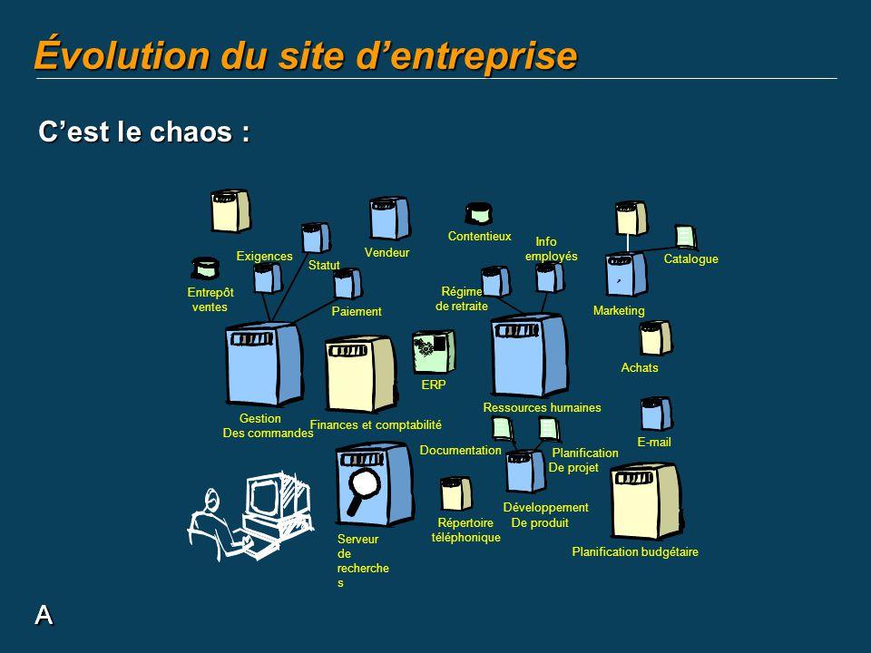 A Évolution du site dentreprise A Cest le chaos :