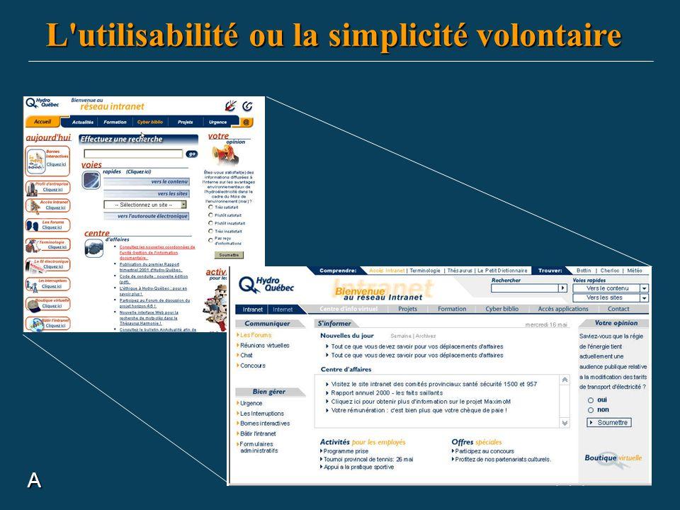 A L'utilisabilité ou la simplicité volontaire