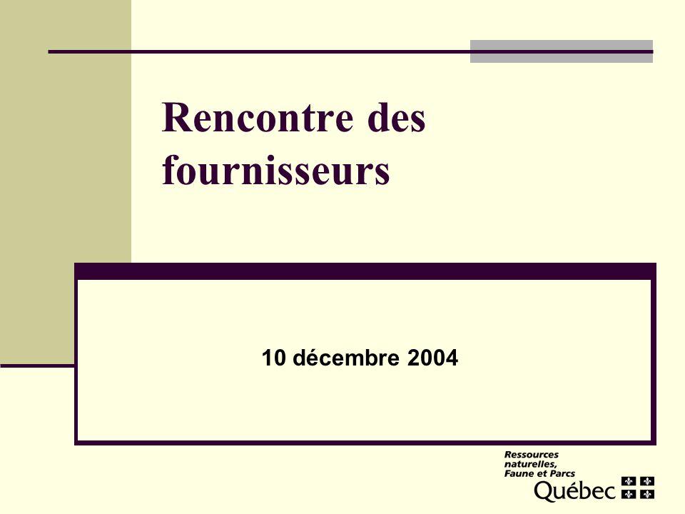 Rencontre des fournisseurs 10 décembre 2004