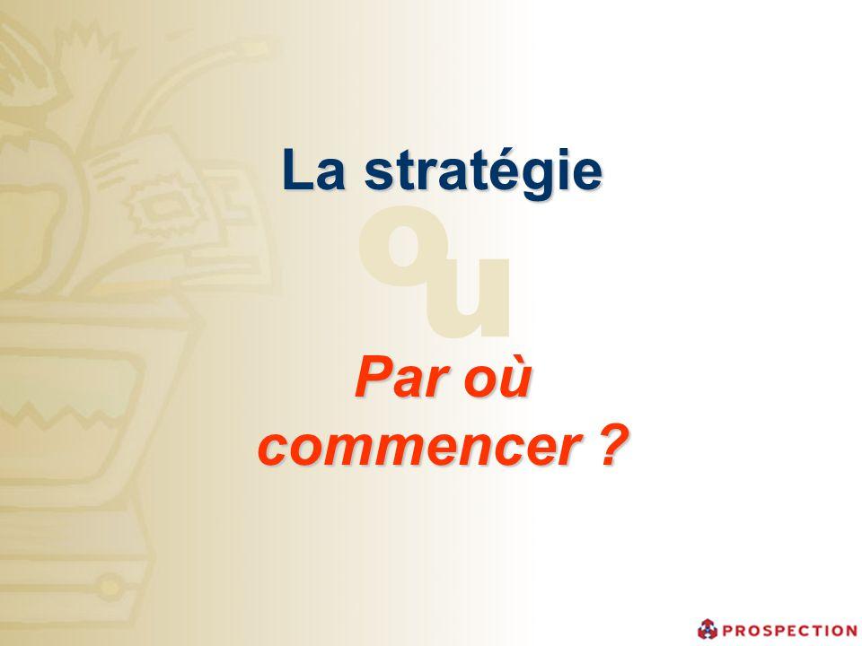 La stratégie Par où commencer ? o u