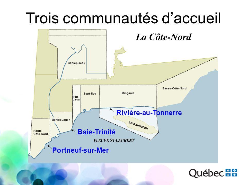 Trois communautés daccueil Portneuf-sur-Mer Baie-Trinité Rivière-au-Tonnerre