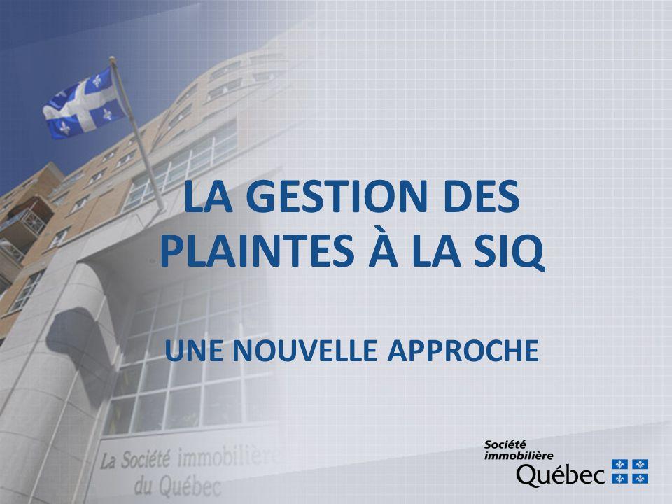 MISE EN CONTEXTE Un engagement du plan stratégique 2009- 2012 de la SIQ: Établir un canal de communication simple et direct.