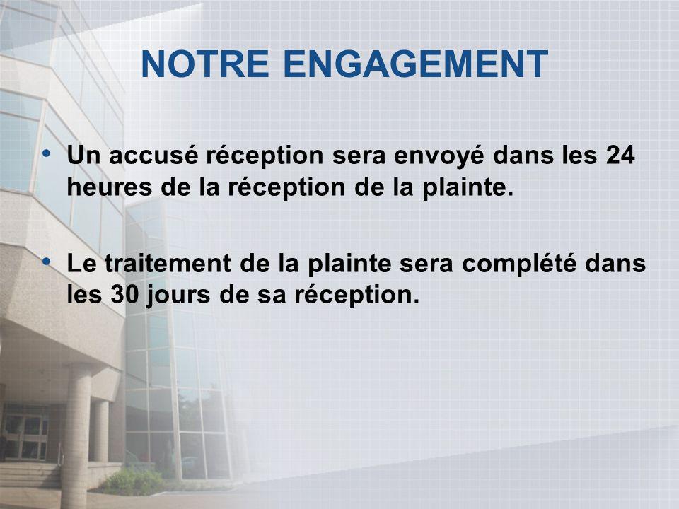 LE BUREAU DES PLAINTES Les plaintes peuvent être transmises par: Courriel:plainte@siq.gouv.qc.ca Téléphone:(418)644-4542 Télécopieur:(418)528-2999 Courrier:Société Immobilière du Québec a/s conseiller service à la clientèle 1075, rue de l Amérique-Française Québec (Québec) G1R 5P8