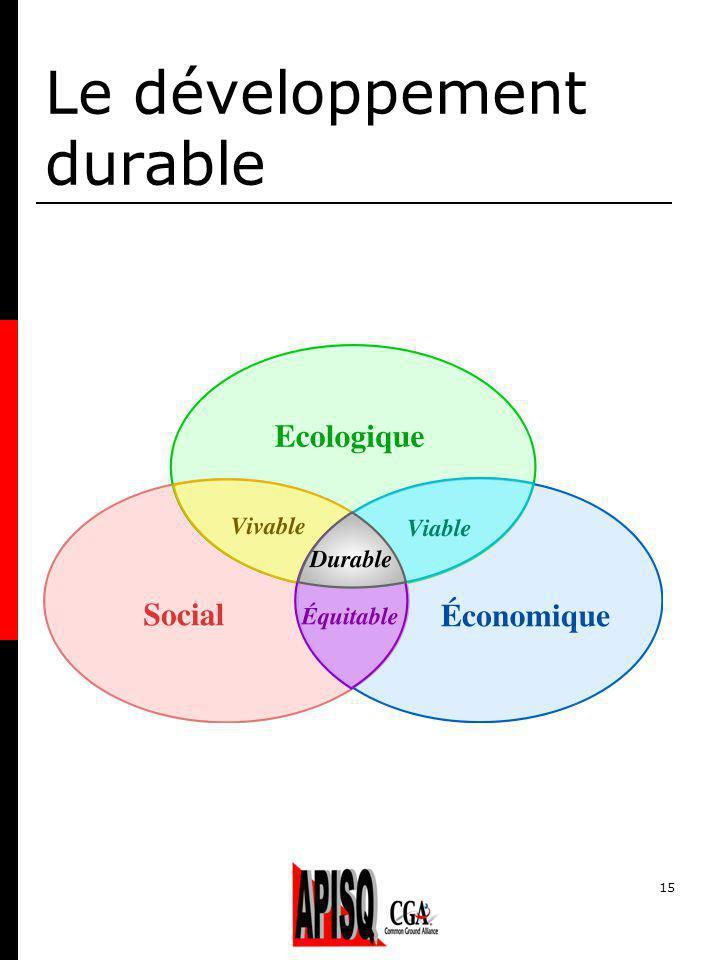 15 Le développement durable