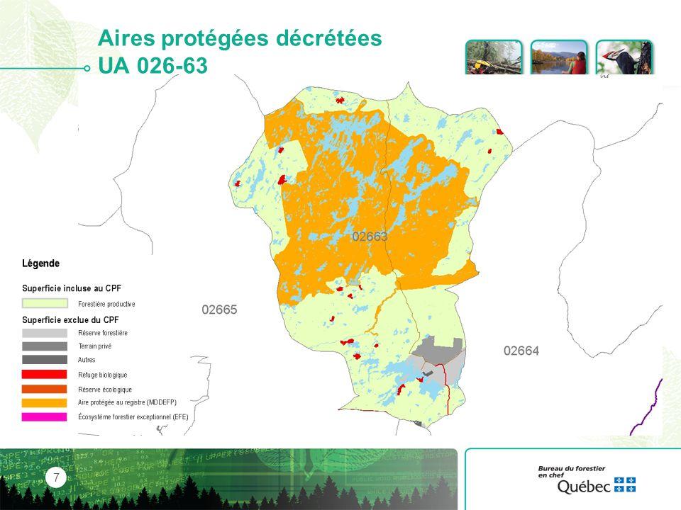 Le territoire régional 28 51 % de la superficie est admissible à la récolte de bois