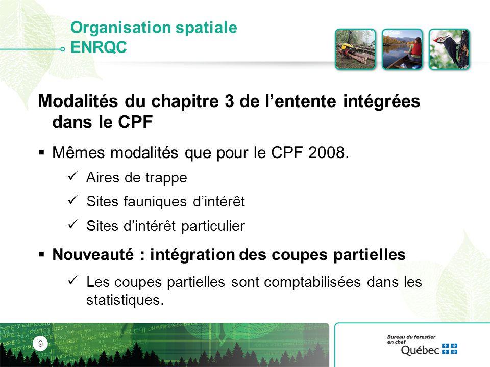 Le territoire régional 30 Répartition des types forestiers