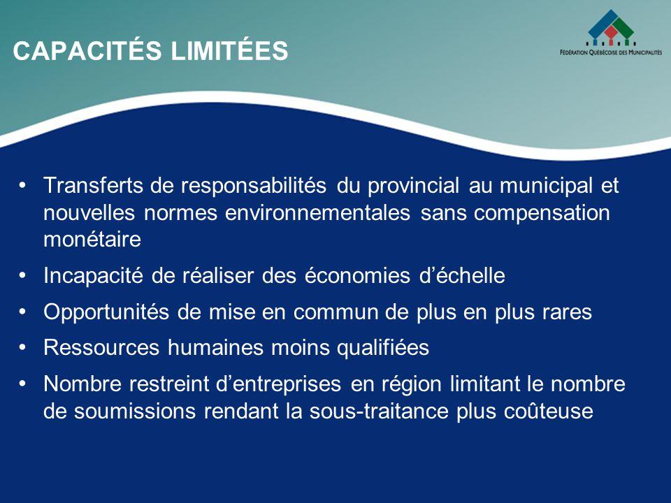 POUR LES MUNICIPALITÉS DÉVITALISÉES Taux global de taxation (TGT) 76 % des municipalités dévitalisées ont un taux global de taxation supérieur au TGT québécois, contre 43 % des muni- cipalités non dévitalisées Ninclut pas les dépenses privées liées aux puits artésiens et aux fosses septiques Part du réseau routier dans les dépenses de fonctionnement Environ 73 % des municipalités dévitalisées ont une popula- tion inférieure à 900 habitants contre seulement 33 % pour les municipalités non dévitalisées
