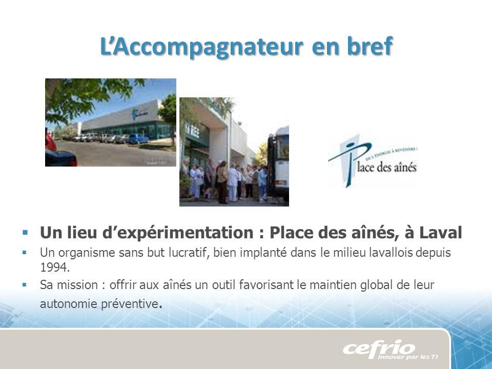 Un lieu dexpérimentation : Place des aînés, à Laval Un organisme sans but lucratif, bien implanté dans le milieu lavallois depuis 1994.