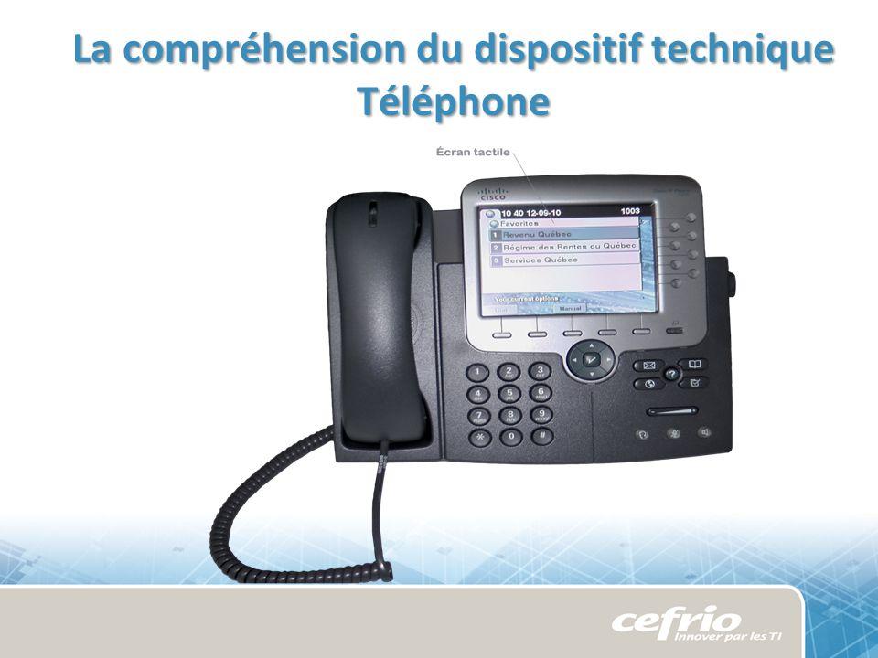 La compréhension du dispositif technique Téléphone