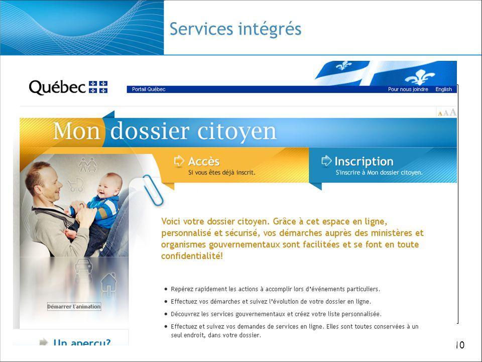10 Services intégrés