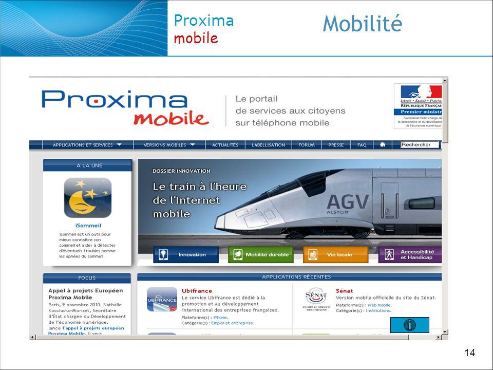 14 Proxima mobile Mobilité