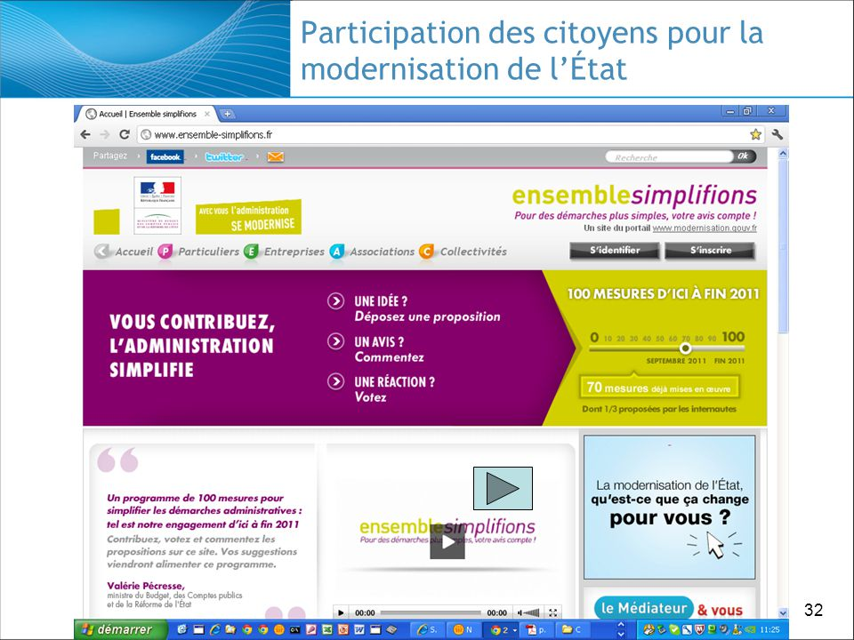 32 Participation des citoyens pour la modernisation de lÉtat