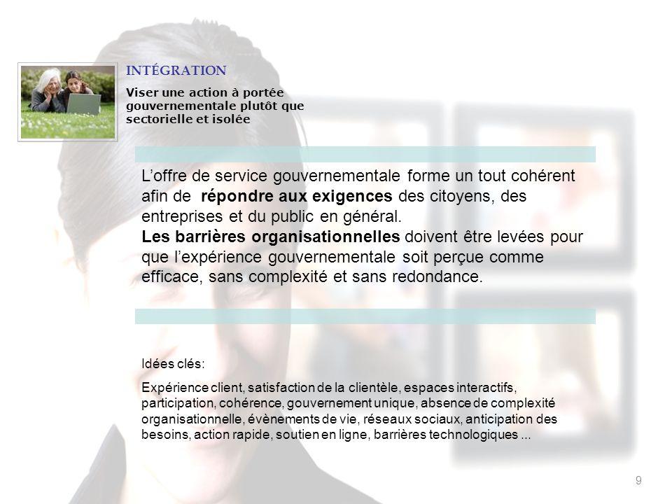 20 Ladministration publique met en commun ses informations et ses connaissances afin doptimiser lutilisation des ressources et le développement des services publics.