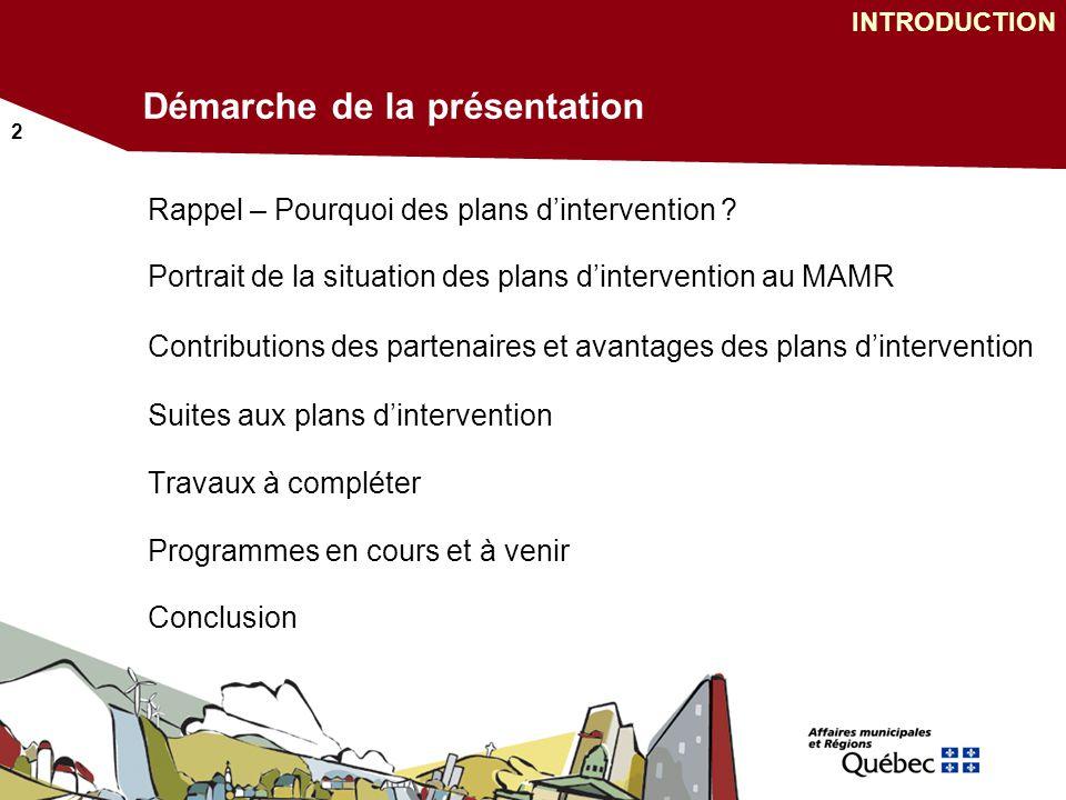 2 Démarche de la présentation Rappel – Pourquoi des plans dintervention .