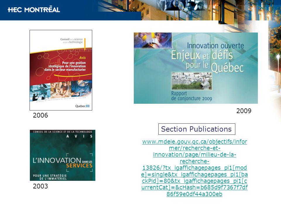 www.mdeie.gouv.qc.ca/objectifs/infor mer/recherche-et- innovation/page/milieu-de-la- recherche- 13826/?tx_igaffichagepages_pi1[mod e]=single&tx_igaffichagepages_pi1[ba ckPid]=80&tx_igaffichagepages_pi1[c urrentCat]=&cHash=b685d9f7367f7df 86f59e0df44a300eb 2006 Section Publications 2003 2009