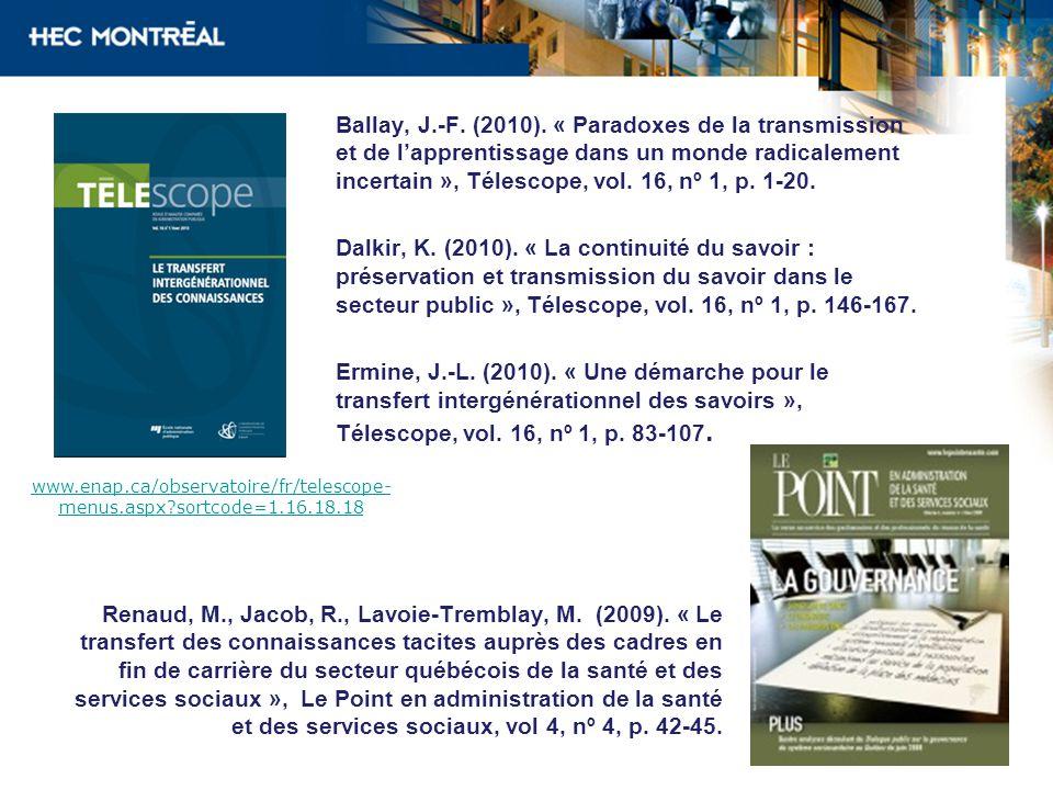 2010 www.enap.ca/observatoire/fr/telescope- menus.aspx?sortcode=1.16.18.18 Ballay, J.-F.
