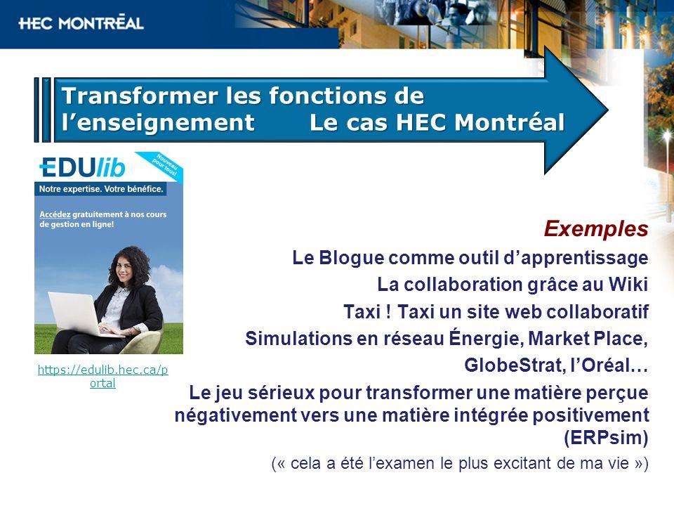 Exemples Le Blogue comme outil dapprentissage La collaboration grâce au Wiki Taxi .