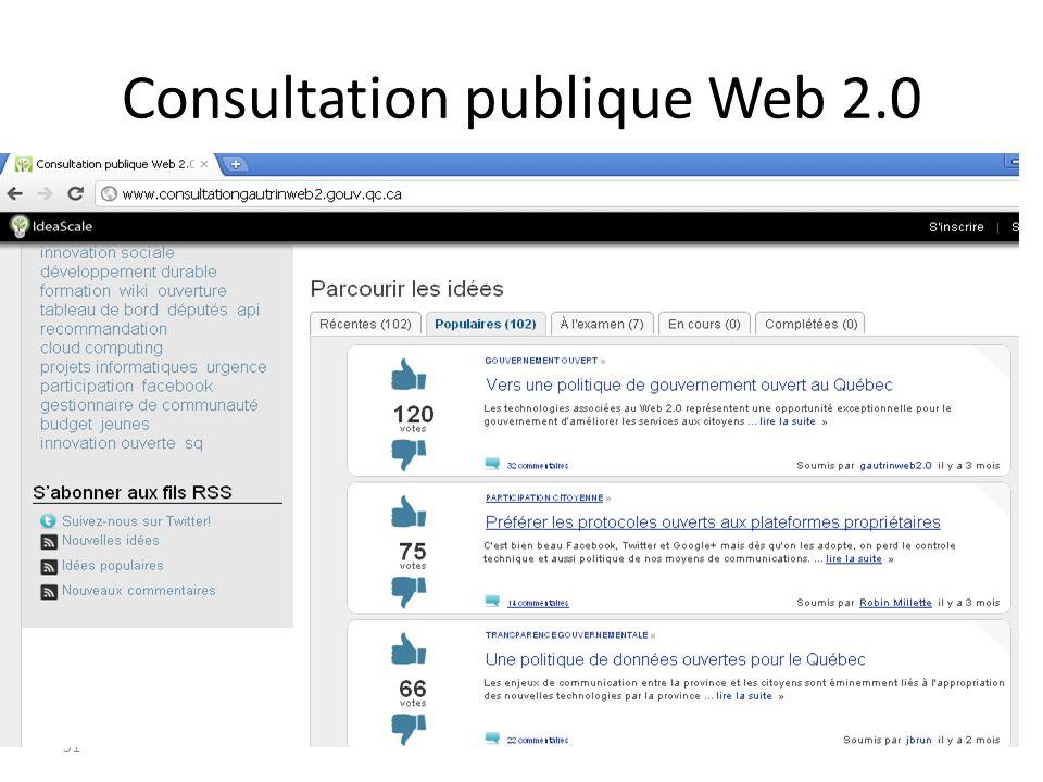 51 Consultation publique Web 2.0