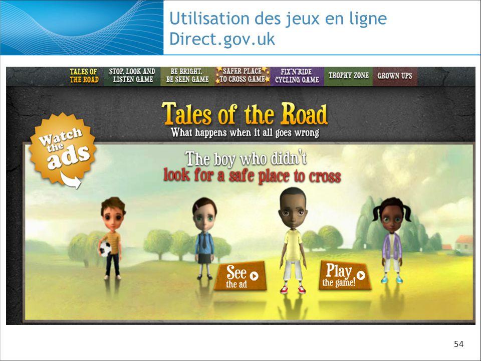 54 Utilisation des jeux en ligne Direct.gov.uk